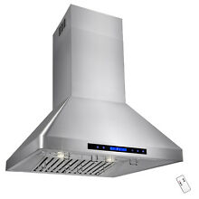 30  Ductless Vented Cooking Fan Stove Stainless Steel Island Mount Range Hood
