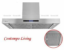 Xtreme Air 36  European Style Island Mount Range Hood with Baffle Filter