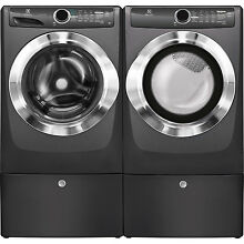 Electrolux Titanium Washer  Electric Dryer   Pedestals EFLS517STT   EFME517STT