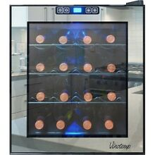 Vinotemp   Eco Series Mirrored 16 Bottle Wine Cooler   Stainless steel