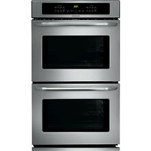 Frigidaire Stainless 27  Electric Double Wall Oven Self Clean FFET2725PS