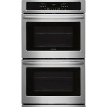 Frigidaire Stainless 30  Electric Double Wall Oven Self Clean FFET3025PS