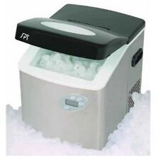 Sunpentown IM 101S Portable Ice Maker With LCD With Stainless Steel Body NEW