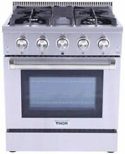 THOR KITCHEN 30  Pro Stainless HRG3080U Gas Convection Oven Range  4 Burner