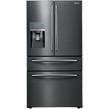 Samsung 28CF Black Stainless 4Door French Door Refrigerator Showcase RF28JBEDBSG