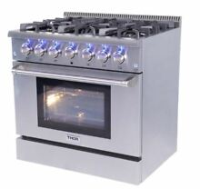36  THOR KITCHEN GAS HRG3618U Convection Oven  Six Burner  Infrared Broil Range