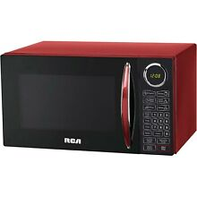 RCA 0 9 cu ft Microwave Oven Touch Pad Controls 10 Power Levels Red   New