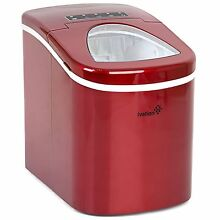 Ivation Red Portable Ice Maker w Easy Touch Buttons for Digital Operation