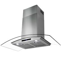 36  Stainless Steel Wall Mount Range Hood with Tempered Glass Touch Panel