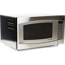 GE Profile 2 2 Cu  Ft  Countertop Microwave Oven W  Child Lock 1200W Silver