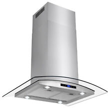 30  Stainless Steel Island Mount Range Hood Contemporary Stove Vents