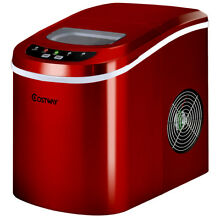 Red Portable Compact Electric Ice Maker Machine Mini Cube 26lb Day New