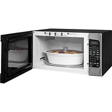GE 2 0 cu  ft  Countertop Microwave Oven Stainless Steel 1200 Watt FREE SHIPPING