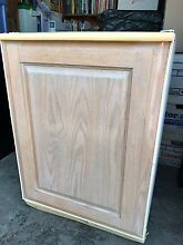 U Line Automatic Ice Maker Refrigerator Under Counter  Custom Carved Oak Door