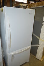 Whirlpool WRB329DMBW 30  White Bottom Freezer Refrigerator T2 NOB  15793
