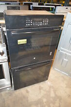 GE JK3500DFBB 27  Black Double Electric Wall Oven NOB   15842