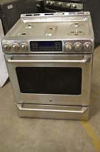 GE Cafe C2S985SETS 30  Stainless Freestanding Dual Fuel Range NOB  9159