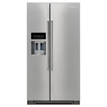 KitchenAid KRSF505ESS 36  Stainless Side by Side Refrigerator NOB  16061