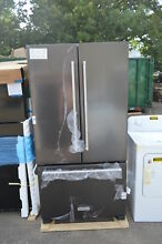 KitchenAid KRFC302EBS 36  Black Stainless French Door Refrigerator NOB  16137