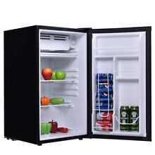 Refrigerator Black Fridge Dorm Cooler Beverage Freezer 3 2 Cu Ft  Home Machion