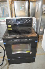 Whirlpool WFE530C0EB 30  Black Freestanding Electric Range NOB  16853 T2 CLW