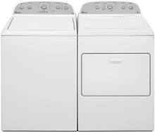 Whirlpool WTW5000DW WED5000DW White Laundry Set Top Front Load Washer Dryer NEW