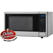 Microwave Countertop in Stainless Steel1 1 cu  ft 1000 Watts with Popcorn Preset