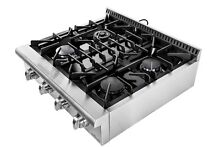 30 range top 4 burners gas stove stainless steel HRT3003U Thor Kitchen