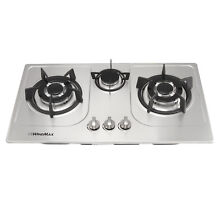 Windmax 30inch 3 Burners Built In Gas Cooktop LPG NG Fix Gas Hob Kitchen Cooker