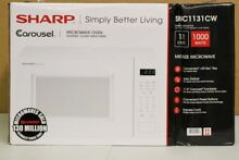 Sharp Carousel Microwave Oven 1 1 cu ft SMC1131CW 1000w White DENT   P3 PICKUP