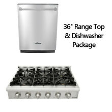 Thor Kitchen 36  6 burner range top 24  Dishwasher Package  stainless steel