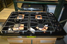 GE JGP329DETBB 30  Black Gas 4 Burner Cooktop NOB  19584