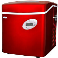 Newair AI 215R Red Portable Ice Maker   50 Lbs  Daily Capacity
