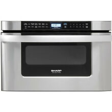 Sharp   1 2 Cu  Ft  Built In Microwave Drawer   Stainless steel