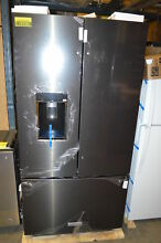 KitchenAid KRFC704FBS 36  Black Stainless French Door CD Refrigerator NOB  19726