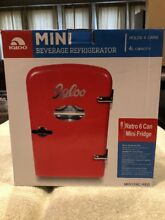 Igloo Mini Retro Beverage Fridge  Red Christmas Is coming Excellent Present
