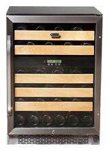 Whynter   46 Bottle Wine Refrigerator   Stainless steel