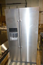 KitchenAid KRSF505ESS 36  Stainless Side by Side Refrigerator NOB  21418