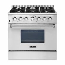 Thor Kitchen 30 36 48  Gas Range 4 6 8 Burners Professional Stainless Steel