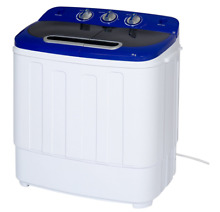 Portable Compact Washing Machine Spin Dryer Twin Tub Washer Small Mini Appliance