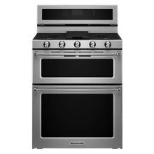 KitchenAid KFDD500ESS 30  Stainless Double Oven Dual Fuel Range NOB T2  22315