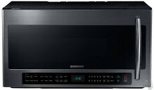 Samsung ME21H706MQGS 30  Black Stainless Over The Range Microwave NOB  7641 WLK