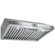 AKDY 30 in  Under Cabinet Range Hood in Stainless Steel with LEDs   RH0235