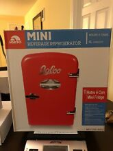 Igloo Mini Beverage Fridge 6 Cans Dorm Bar Red 4L Retro Fridge Black Friday
