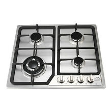 AH Stainless Steel 23in 4 Burners Gas Hob NG LPG Conversion Cooktop Stove A