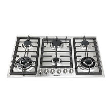 Windmax 34in  6 Burnes Gas Stove Built In Stoves Stainless Steel Cooktops NG LPG