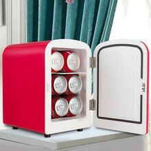 Portable 4L Mini Fridge Cooler and Warmer Auto Car Boat Home Office Red Color US