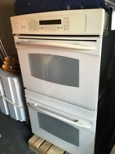 GE electric double profile oven  white color  barely used