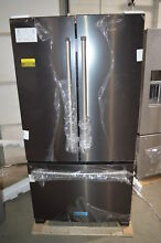 KitchenAid KRFC300EBS 36  Black Stainless French Door Refrigerator NOB CD  23236
