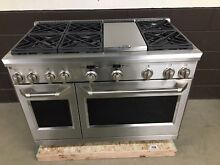 GE Monogram ZDP486NDPSS 48  Dual Fuel Range Professional 6 Burners   Griddle